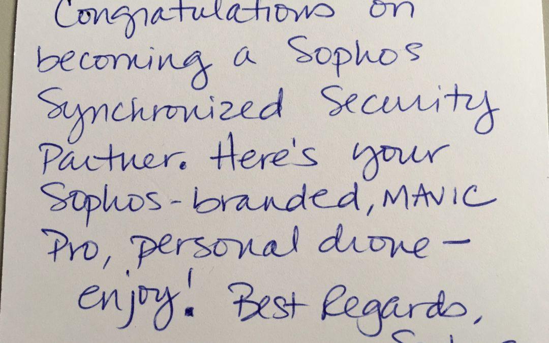 Premio eccellenza Sophos Synchronized Security Partner