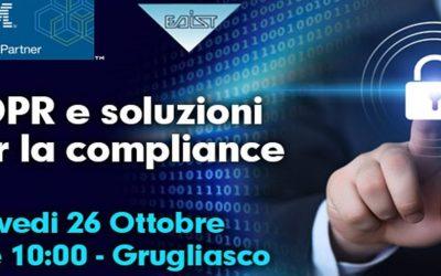 """Evento """"GDPR e Soluzioni per la Compliance"""""""