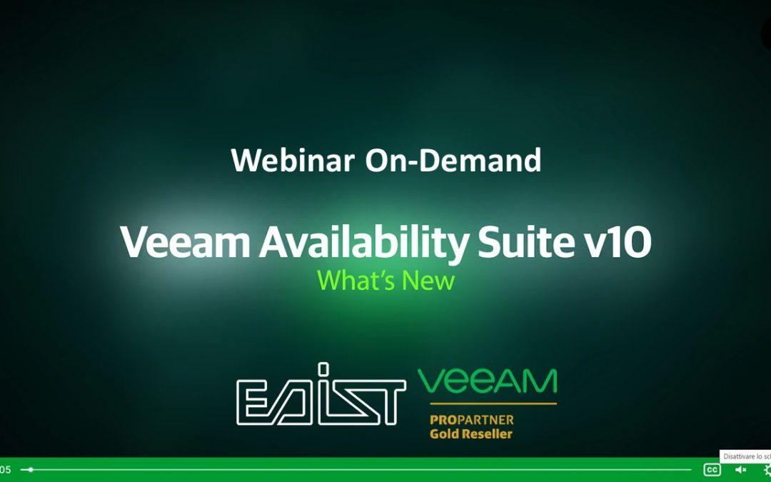 Webinar On demand – Veeam Availability Suite v10
