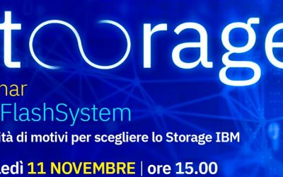 11 Novembre Webinar IBM FlashSystem
