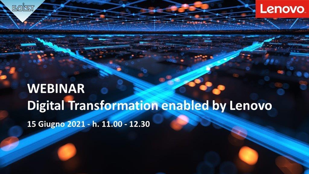 Webinar Digital Transformation enabled by Lenovo